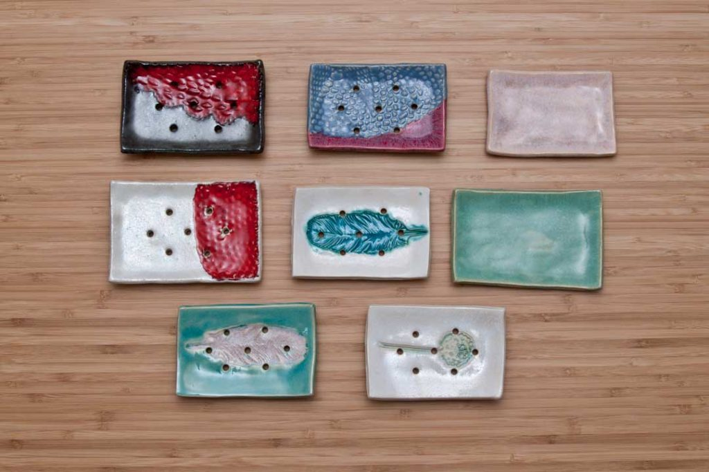 Oryginalna mydelniczka ceramiczna. Ręcznie robiona ceramika użytkowa.