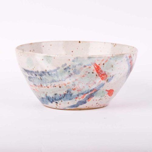 Kolorowa miseczka ceramiczna. 13 cm średnicy.