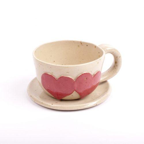Zestaw do kawy z ceramiki